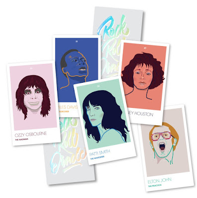 Rock and Roll Oracle Cards by Natalie Metz of Math and Medium