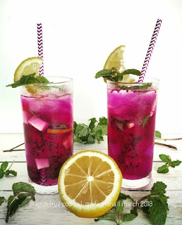Ide Resep Es Lemon Dragon Fruit Cocktails