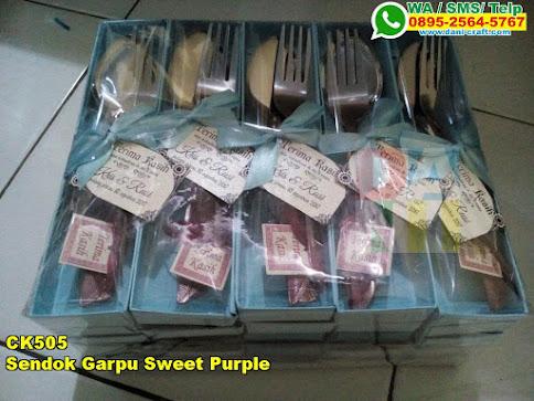 Jual Sendok Garpu Sweet Purple