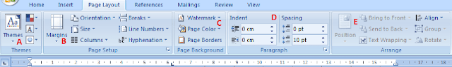 Tools Tab Ms Word | Toolbar PageLayout di Microsoft Word 2007