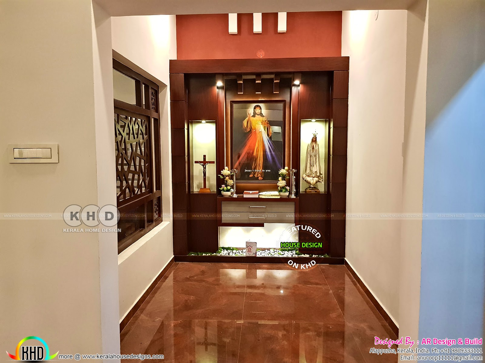 Finished One Floor Home With Finished Interior Kerala Home Design And Floor Plans