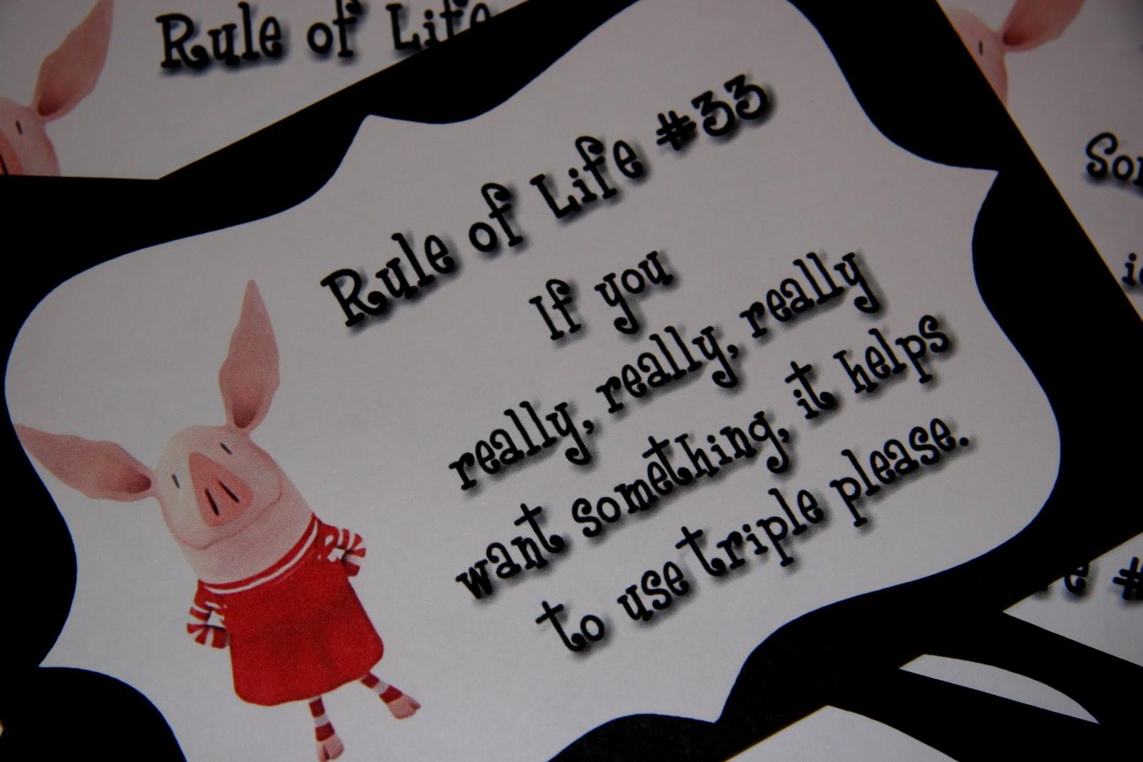 Banner Olivia Pig Birthday