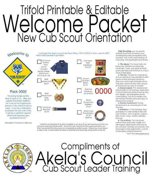 akela s council cub scout leader training new cub scout