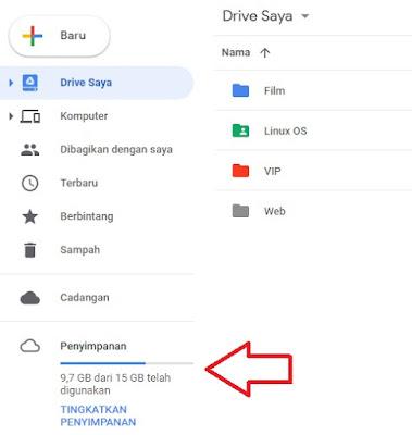 Ruang Penyimpanan Google Drive