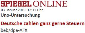 Uno-Untersuchung: Deutsche zahlen ganz gerne Steuern
