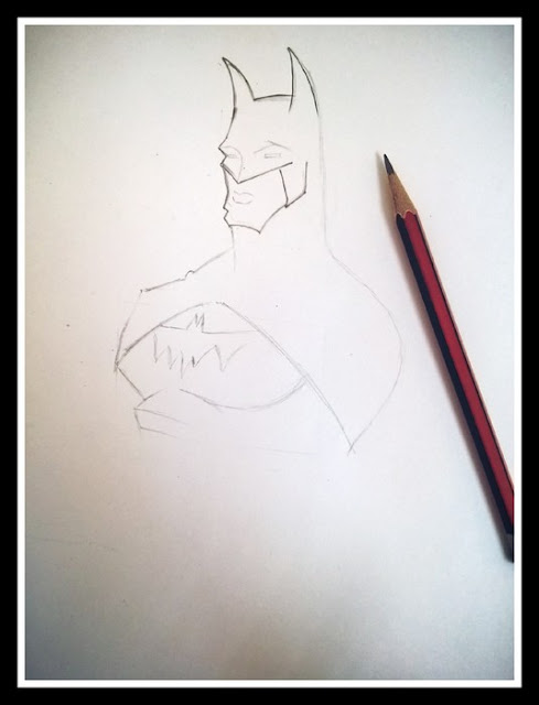 How to Draw Batman Face and Mask