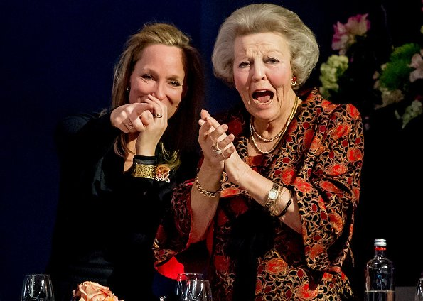 Princess Beatrix and her cousin Princess Margarita visited the 58th edition of the equestrian event Jumping Amsterdam