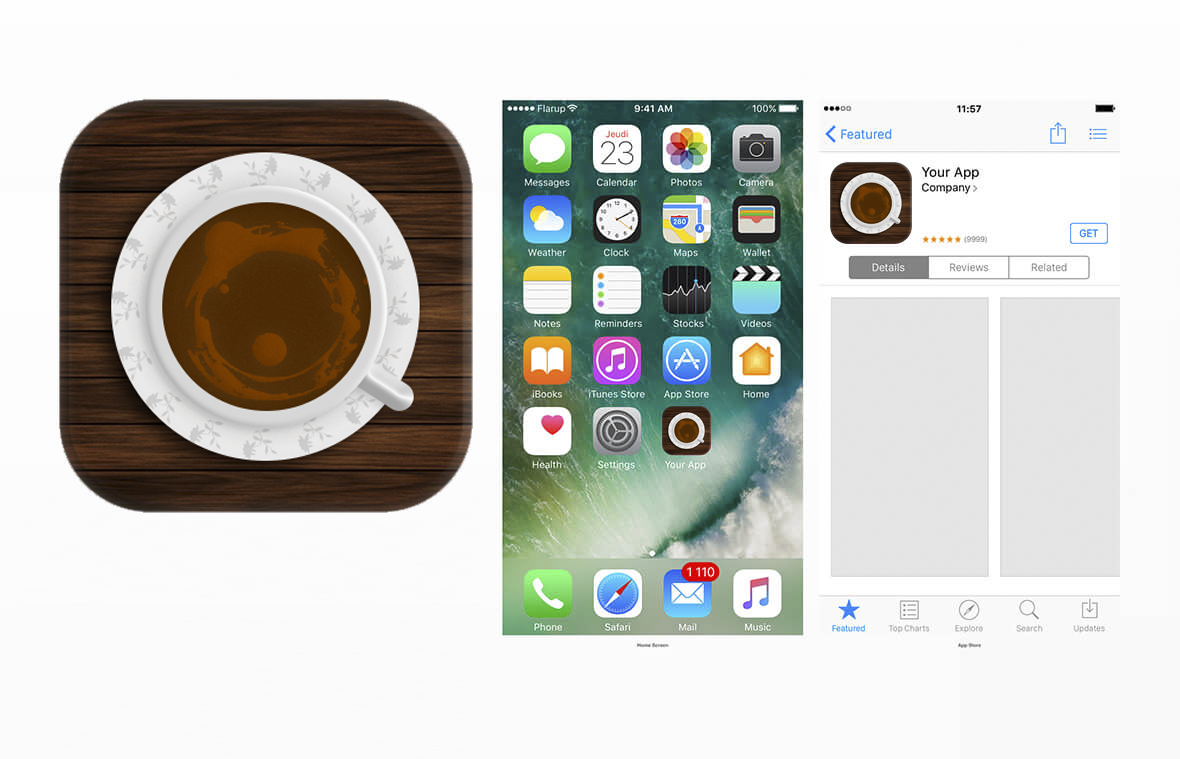 Coffee Cup App Icon Inspiration