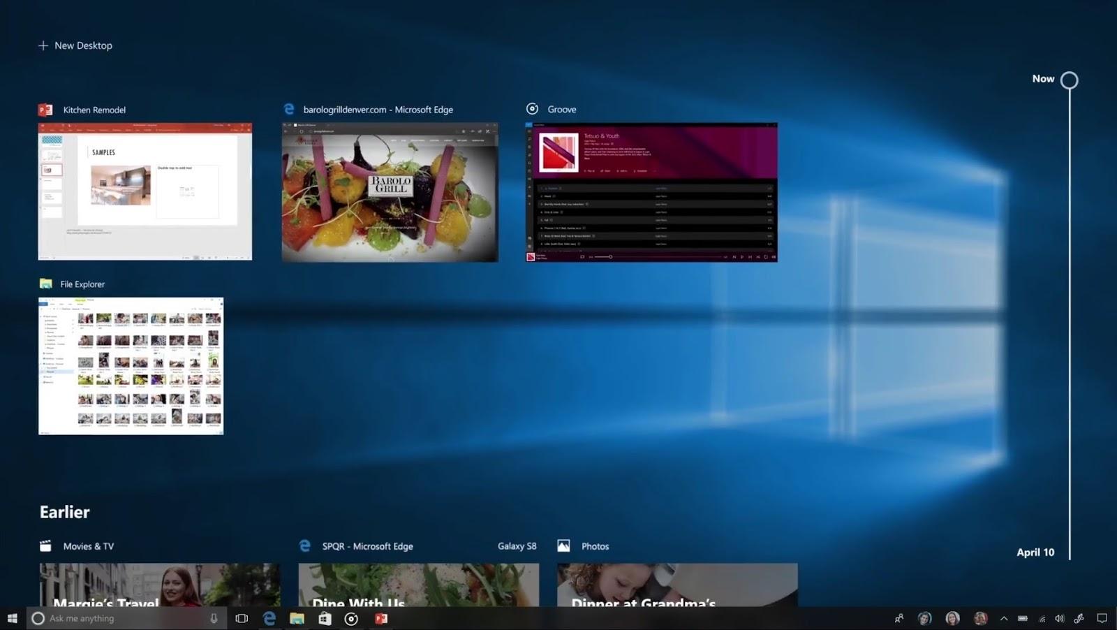 Niente-Timeline-Windows-10