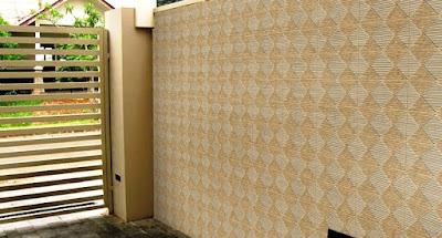 motif keramik dinding teras depan rumah terbaru