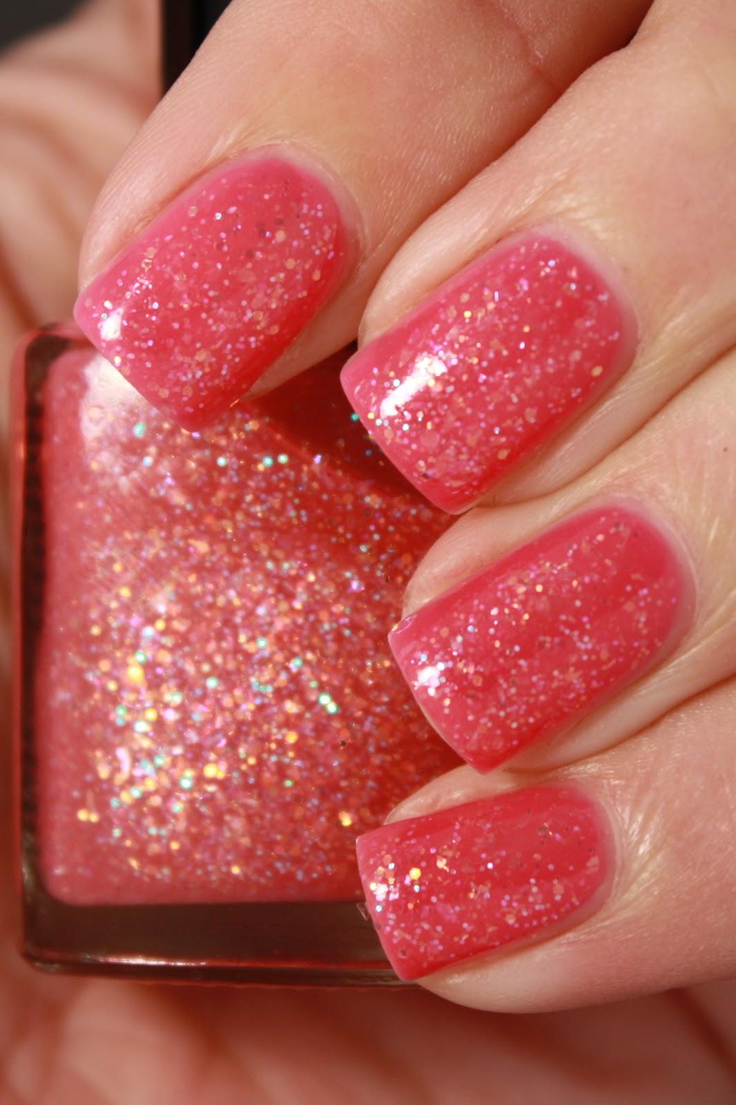 Grape Fizz Nails: Glitter Me Pink