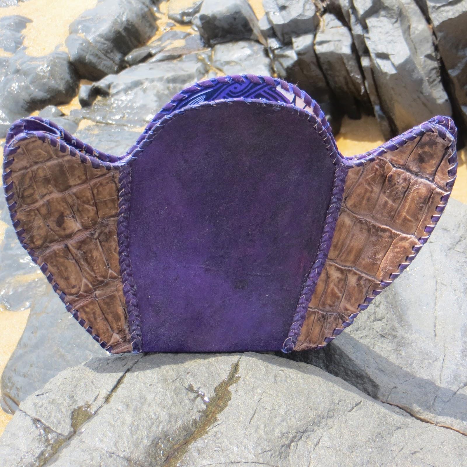Pointed Crocodile Kru Clutch