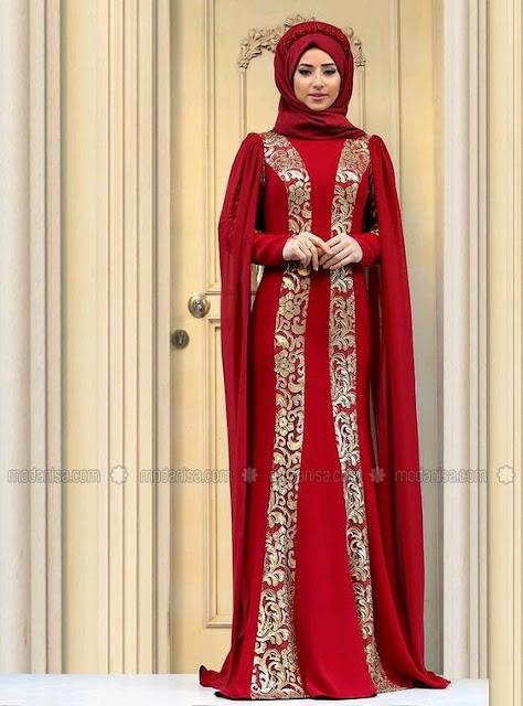 50 Model Gaun Baju Pengantin Muslim Modern Biasa Sampai Glamor 2019
