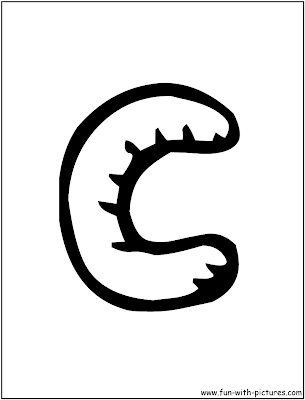 Graffiti Letter C Coloring Pages