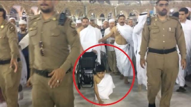 Bikin Haru! Perjuangan Bocah Tanpa Kaki Jalani Umroh Getarkan Hati Imam Besar Masjidil Haram
