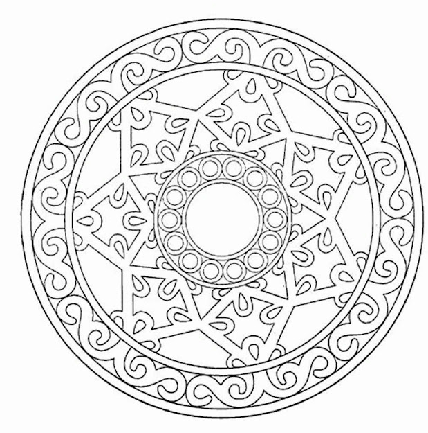 Mandala Coloring Pages For Adults With Free Printable Az Mandala