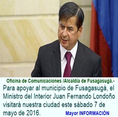 El Ministro del Interior Juan Fernando Cristo Visitará a Fusagasugá para fortalecer Alianzas con Nu