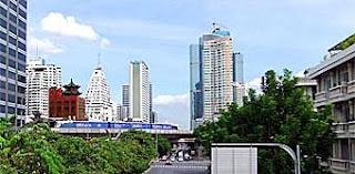 BTS Bangkok over Silom Road