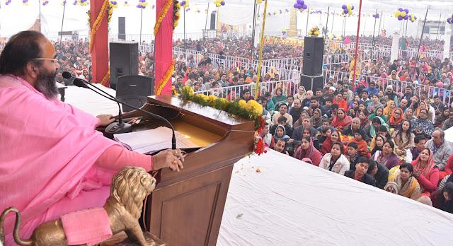 Devotees celebrate the birth anniversary of Guru, new year on Siddhada Ashram