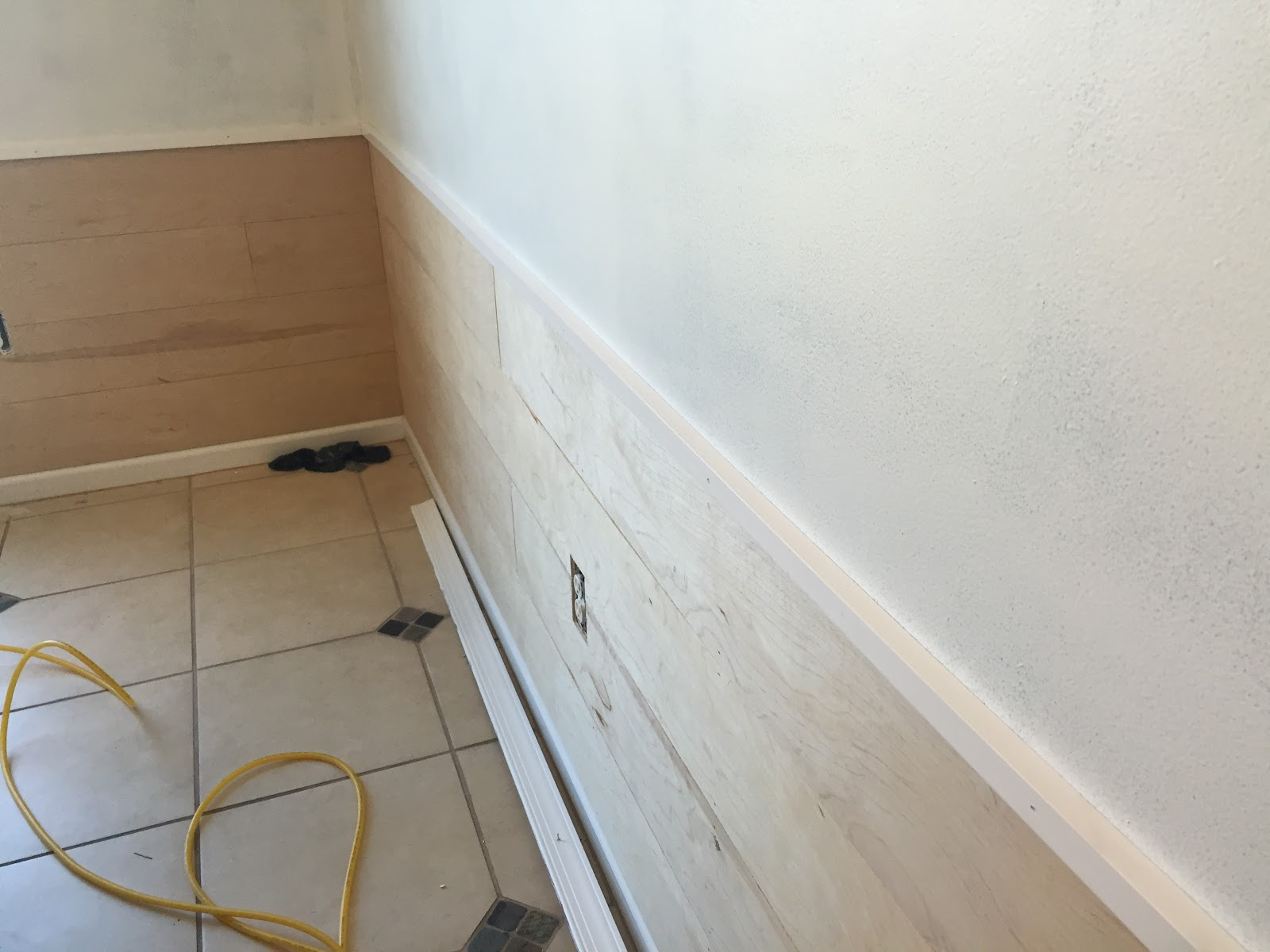 Where To Nail Chair Rail Makeup Artist And Table Diy Inexpensive Shiplap