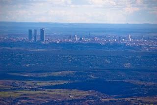 Madrid visto desde la Pedriza el Yelmo