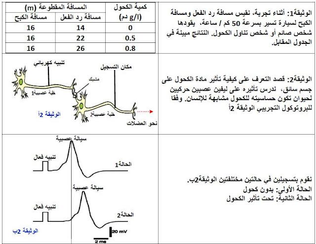 مذكرة تأثير المواد الكيميائية والمخدرات على التنسيق العصبي خالد محمودي