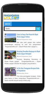 tampilan mobile responsive