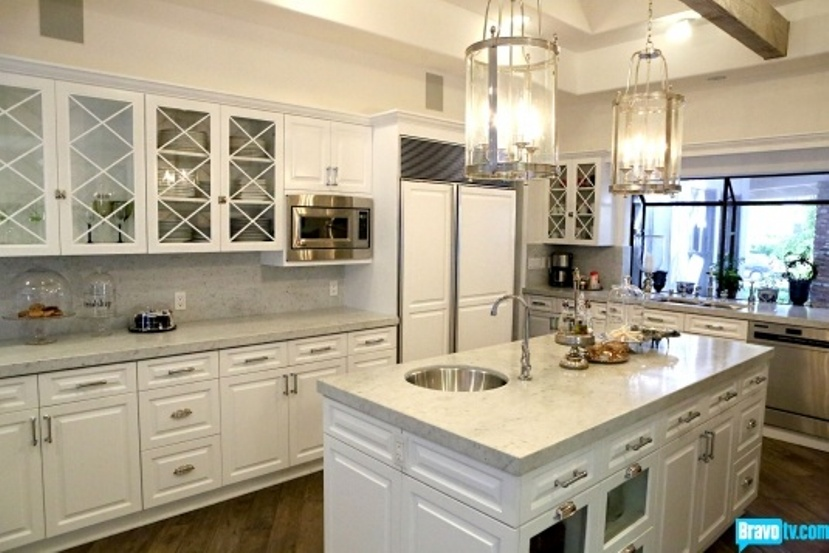 Bright Kitchen Features Lots Carrera Marble Large