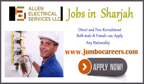Sharjah jobs for Indians, UAE latest jobs with salary,