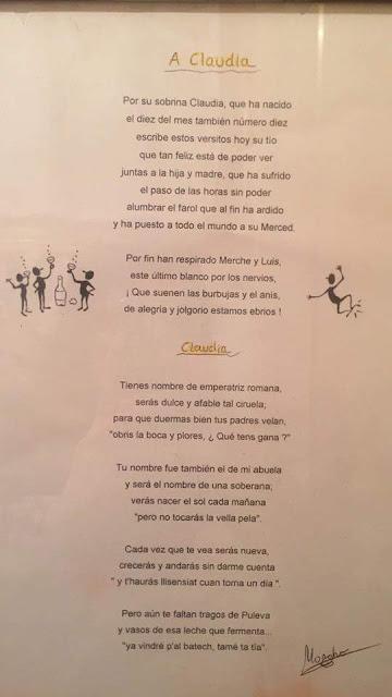 Cludia Segura Guimerá, poema, Moncho
