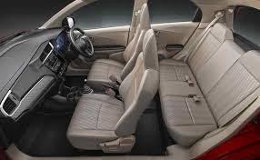 Interior of Honda Brio Car