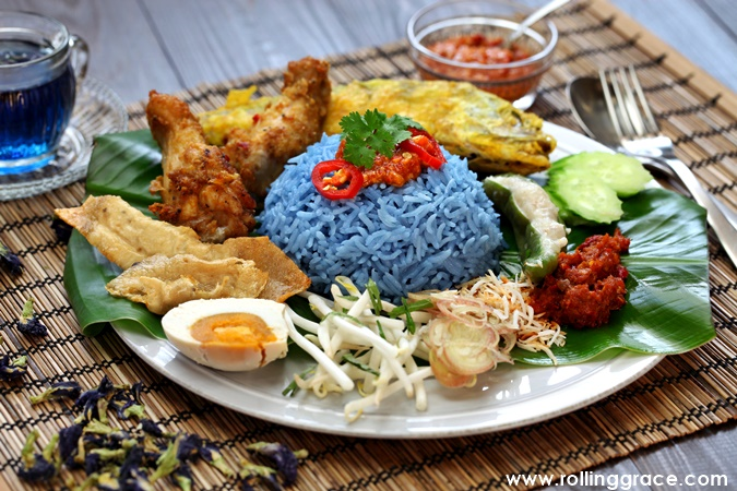 Nasi Kerabu in Malaysia