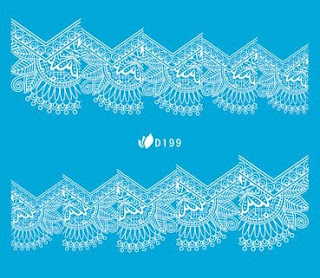 lace water slide decals