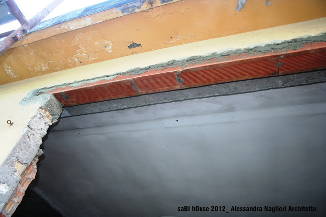 architrave in laterizio brick lintel