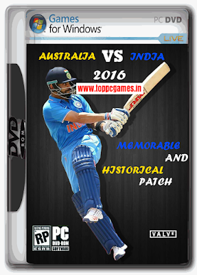 Australia VS India 2016 Historical Patch For Ea Sports Cricket 07