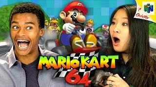O clássico jogo de corrida da Nintendo Mario Kart 64 ainda consegue divertir os adolescentes