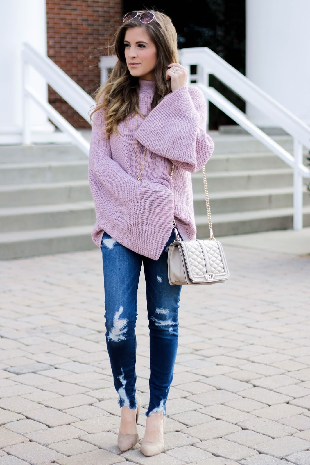 Oversized Bell Sleeve Sweater The Dainty Darling