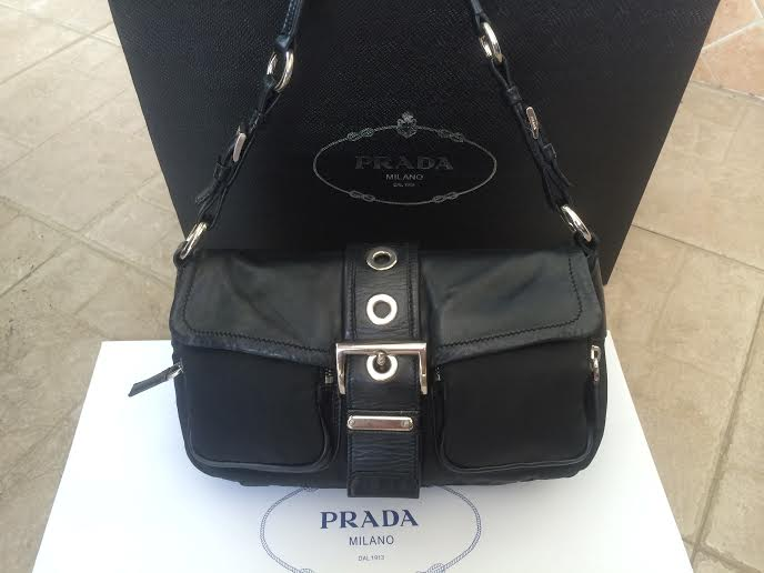 9911223582 ... new zealand prada nylon and lambskin shoulder bag 66c56 928e3