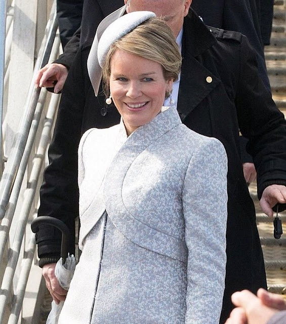 Queen Mathilde christened the new installation vessel of the Jan De Nul Group in Oostende