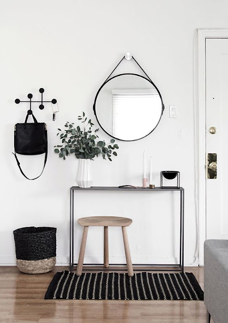 Ideas para decorar recibidores pequeños-17