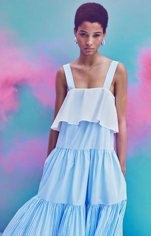 vestido volantes raya primavera verano Zara 2016