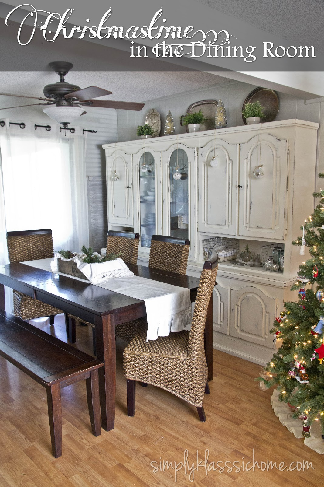 Rustic Glam Christmas Dining Room Yellow Bliss Road