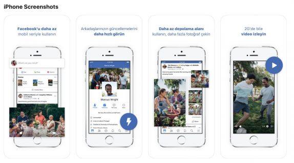 Tampilan Facebook Lite di iOS