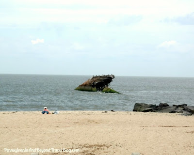 Atlantus Sunken Concrete Ship Sunset Beach Cape May