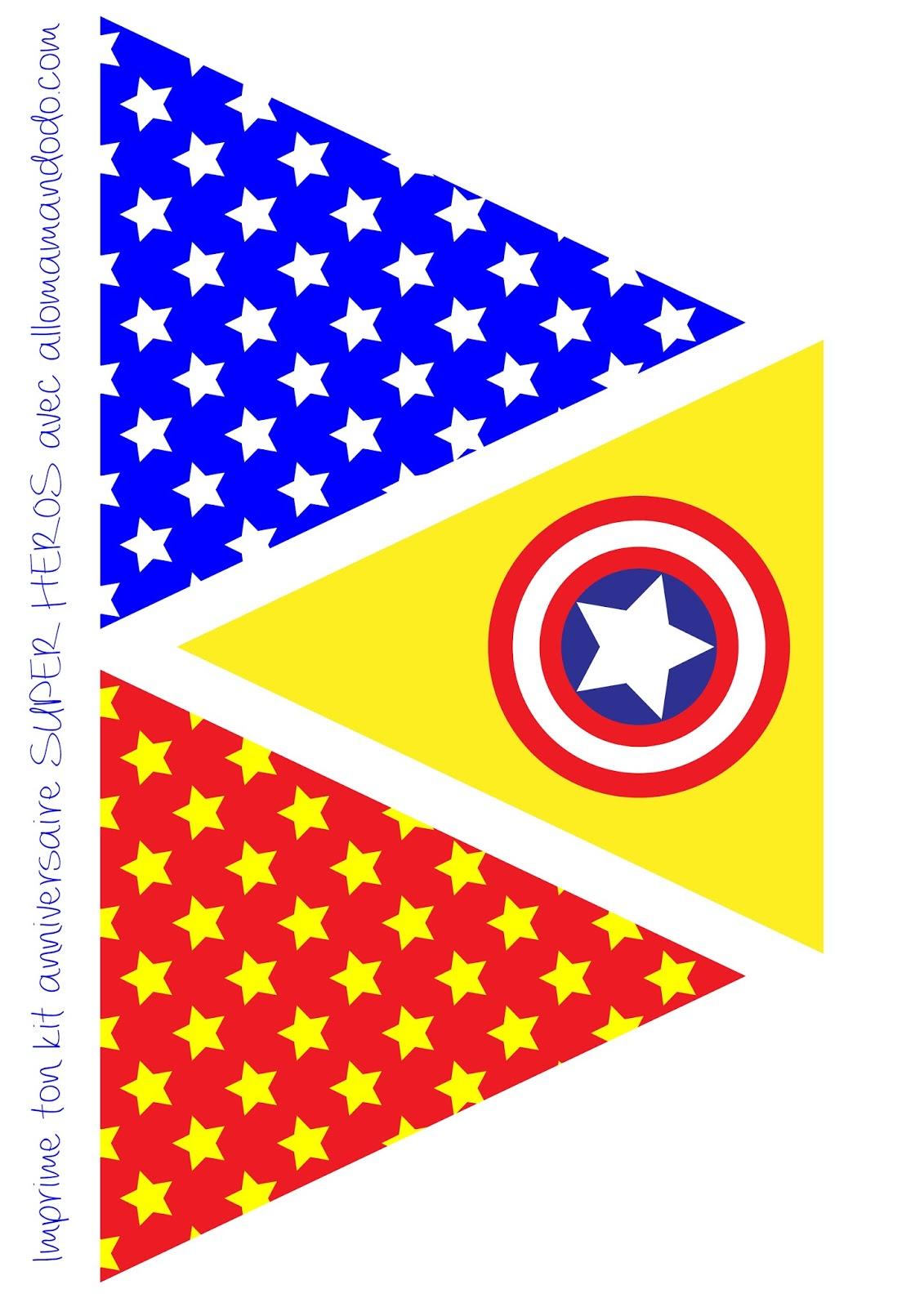 Superheroes Free Printable Bunting