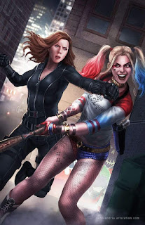 Black Widow and Harley Quinn