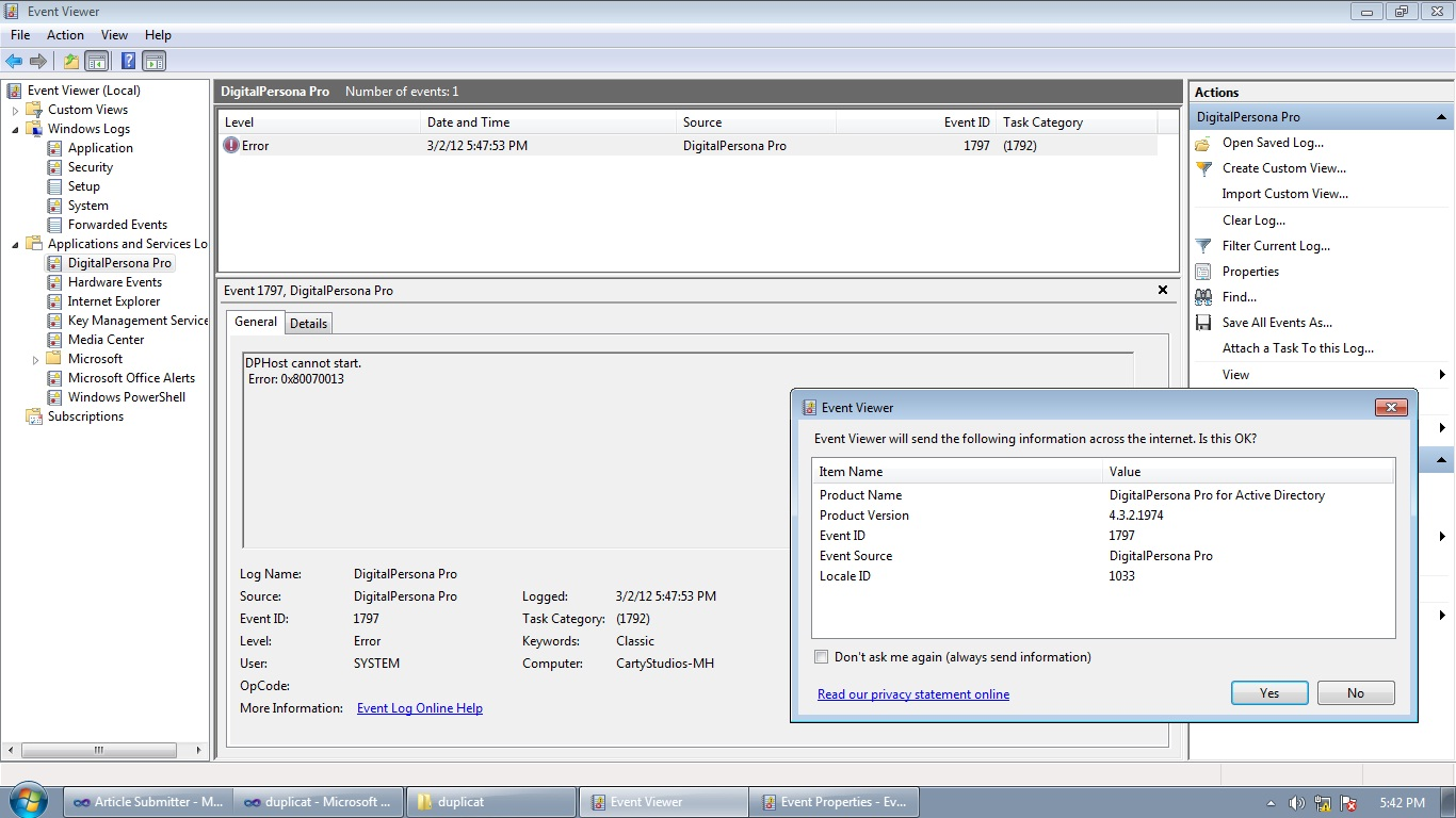 Troubleshooting Windows Errors And Solutions: May 2012