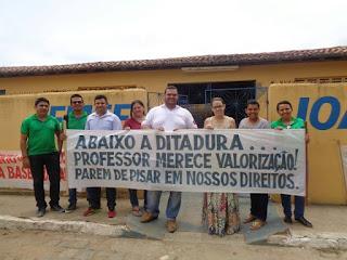 Professores de Serra dos Brandões em Picuí fazem protesto pelo pagamento do piso salarial