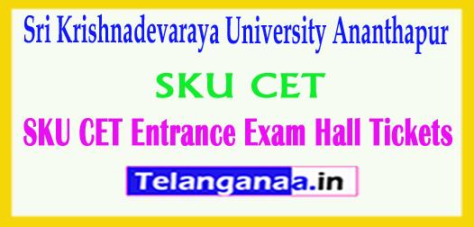 SKU CET 2018 Sri Krishnadevaraya University Ananthapur CET Entrance Exam Hall Tickets 2018