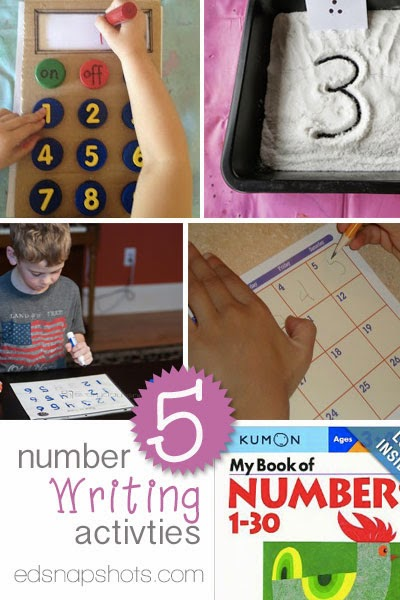 Five Number Writing Activities for Young Learners